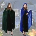 万圣节披风cosplay化妆舞会服装巫婆斗篷女巫精灵披风巫师服饰WY