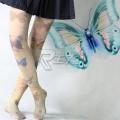 主宰者 蝴蝶天鹅绒80D平板连裤袜 肤色印花 COSWZ-001C