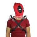 主宰者 Deadpool 万圣节死侍cos面罩头套头罩紧身衣配件 扇形眼死侍 SS