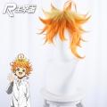 主宰者  约定的梦幻岛 男主 艾玛黄色渐变橘色反翘短发 cos动漫假发 483A