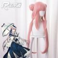 主宰者 明日方舟 锡兰 粉色发包造型双马尾 cosplay游戏假发 492R