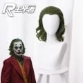 主宰者 电影 小丑 joker 起源 亚瑟 弗莱克 混绿色短卷发 cos动漫假发 405J