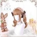 主宰者 日系软妹【珊瑚巧巧】 lolita日常奶棕色渐变中长卷发假发 LOLI-006