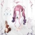 主宰者 紫粉色渐变大波浪卷发 日常lolita软妹【紫默嫣然】假发套 LOLI-008