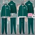 主宰者 韩国电影鱿鱼游戏玩家李政宰同款卫衣cos绿色运动套装服装